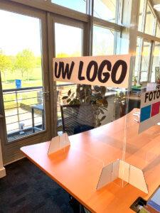Voorbeeld bureau scherm met uw logo
