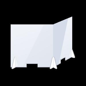 Plexiglas scherm dubbel