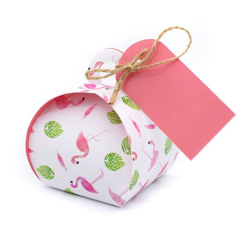 Geschenkverpakking (klein) (10 stuks) - Flamingo